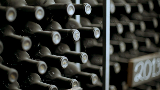 JUSTIN Wine – Lesson 1 – Crush It with JUSTIN – Storing and Aging Wine; JUSTIN's ISOSCELES wine in wine cellar